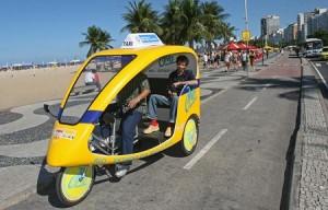 """RJ cria """"eco-táxis"""" como opção verde ao transporte em Volta Redonda"""