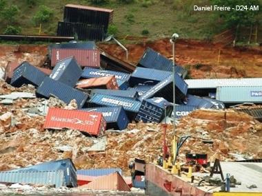 Porto de Manaus (AM) amarga R$ 30 milhões em prejuízos com deslizamento de terra