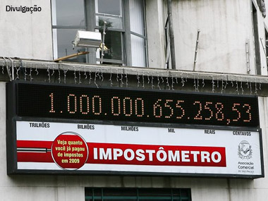 Impostômetro chegou a R$ 300 bilhões