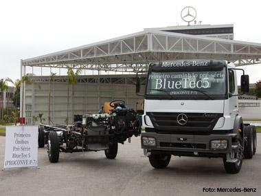 Mercedes-Benz do Brasil apresenta tecnologia que atende norma Euro 5