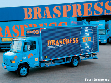 Frota da Braspress chega à marca de 1000 caminhões