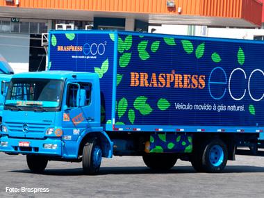 Braspress terá caminhões movidos a gás natural