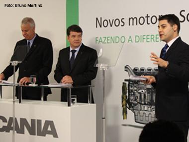 Scania lança nova plataforma mundial de motores no Brasil