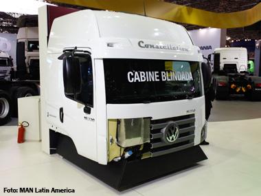 MAN Latin America desenvolve VW Constellation com cabine blindada