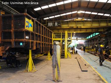 Usiminas Mecânica vai produzir vagões ferroviários em Congonhas (MG)