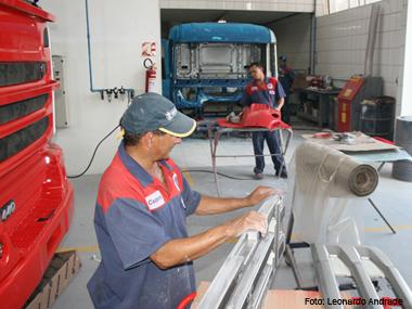 A arte de reformar caminhões