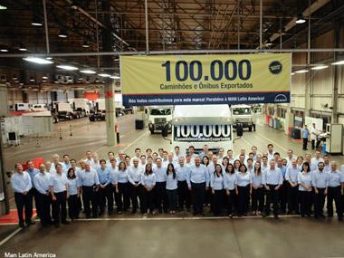 MAN Latin America ultrapassa marca de 100 mil unidades exportadas