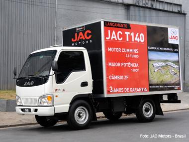 JAC Motors testa mercado brasileiro com caminhão de 3,5 toneladas