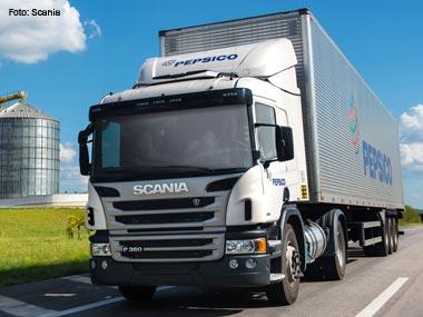 PepsiCo renova frota com caminhões Scania