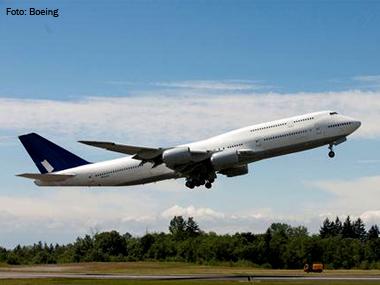 Boeing 747-8 realiza voo-teste com motores e software de gerenciamento aprimorados