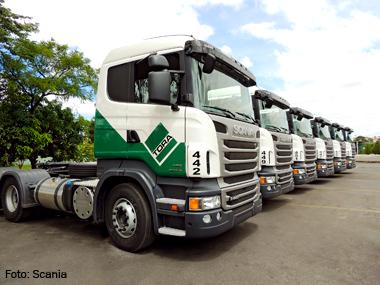 Grupo Tora adquire 255 caminhões Scania