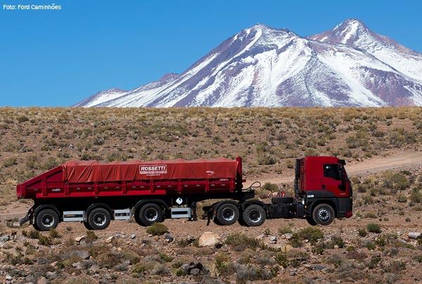 Lançamento no deserto do Atacama, no Chile, foi marcado pelas condições severas para o caminhão