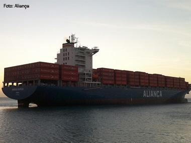 Porto do Pecém (CE) recebe novo navio de cabotagem da Aliança