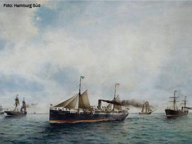 Contrato de D. Pedro II com a Hamburg Süd completa 125 anos