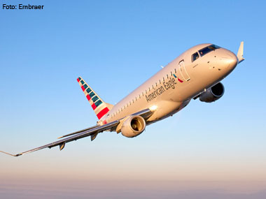 Embraer recebe pedido da American Airlines para 60 jatos E175