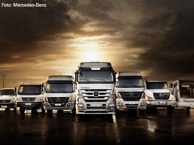 Emplacamento de caminhões Mercedes-Benz do Brasil cresce 9% em 2013