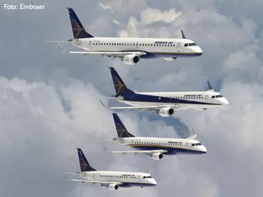 Família de aviões Embraer E-Jet completa 10 anos