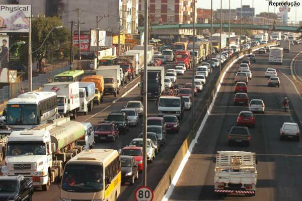BR 116-congestionamento-transito-RS-Rio Grande do Sul