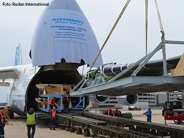 Antonov transporta asas dos novos jatos de médio porte da Gulfstream