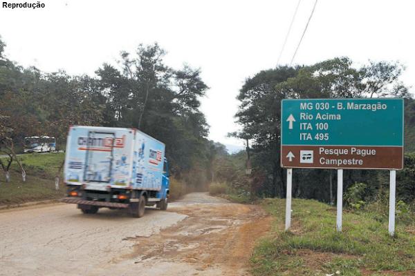 estrada de terra-caminhos de minas-minas gerais
