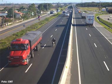 Empresas de transporte rodoviário de cargas apresentam defasagem de 10,14% nos fretes