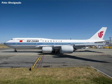 Aviação chinesa recebe primeiro Boeing 747-8