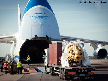 Antonov é escalado para transportar estátua gigante de dragão entre a França e a China