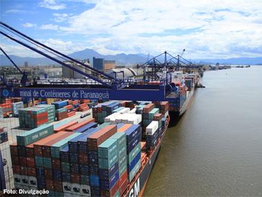 Portos brasileiros movimentaram 251,1 milhões de toneladas no 3º trimestre de 2014