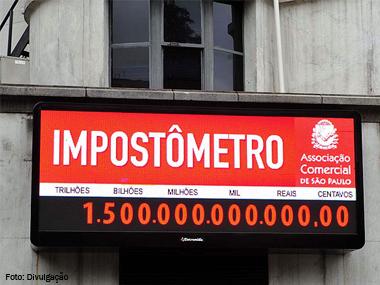 Impostômetro atinge marca de R$ 1,5 trilhão
