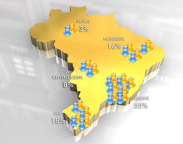 3d golden map of brazil