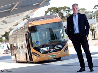 Volvo apresenta maior ônibus do mundo no Rio de Janeiro