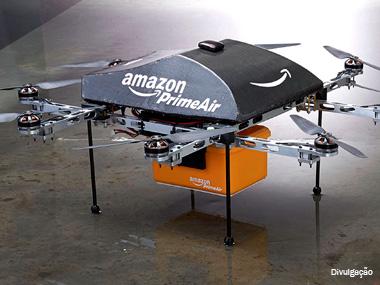 Amazon quer utilizar aeronaves como armazéns de produtos