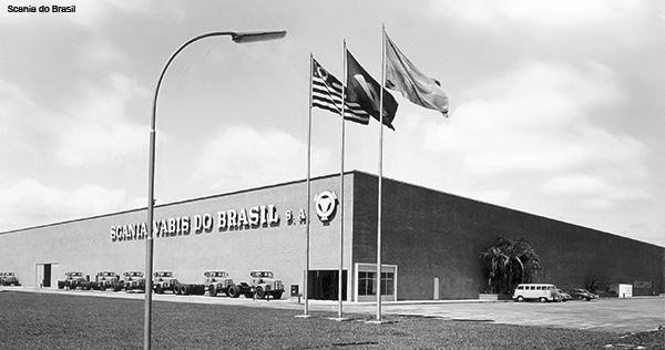 A fábrica da Scania em São Benardo do Campo (SP) foi inaugurada em 1962