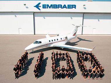 Embraer atinge marca de 1100 jatos executivos entregues