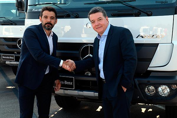Ian Dobereiner, da Raízen, e Roberto Leoncini, da Mercedes-Benz