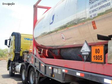 Novas regras para transporte de produtos perigosos passam a valer em julho