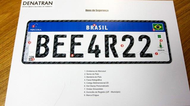 Placas padrão Mercosul devem ser implementadas no Brasil até dezembro