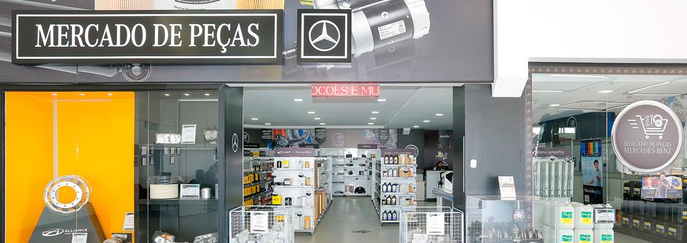 Está aberto o supermercado de peças da Mercedes-Benz