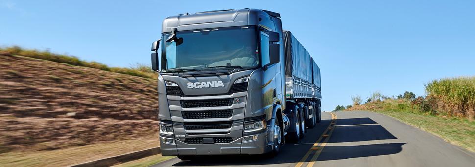 Um grande cliente para a nova geração de caminhões Scania