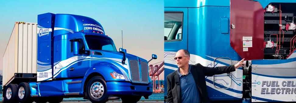 Kenworth mostra caminhão a hidrogênio