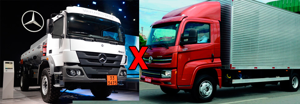 MB versus VW já é tradição nos caminhões