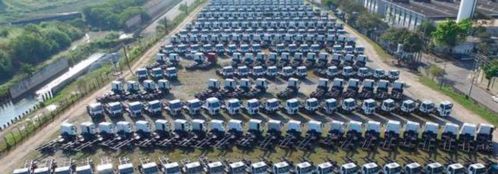 Vendas de caminhões seguem em ritmo de crescimento