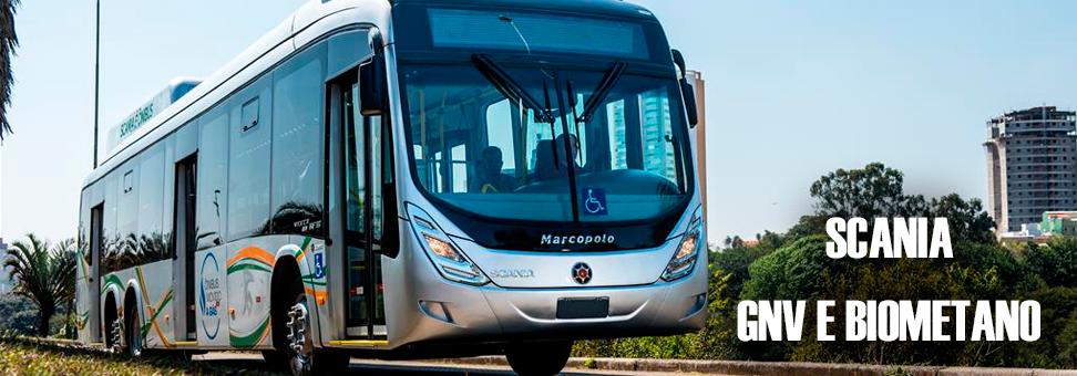 Ônibus Scania a GNV e Biometano começa a rodar em Curitiba
