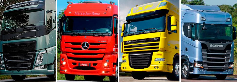 Os 10 caminhões pesados mais vendidos do Brasil