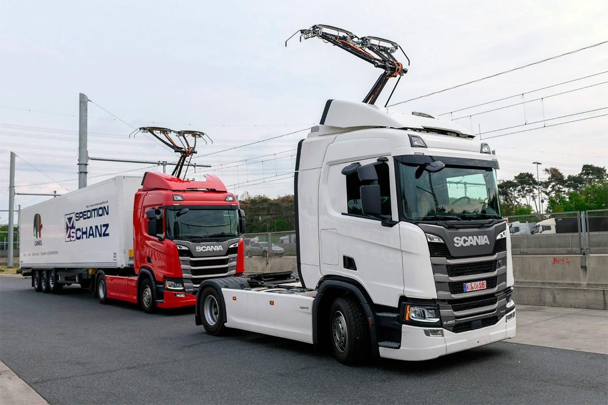 Alemanha cria estrada elétrica e Scania faz testes