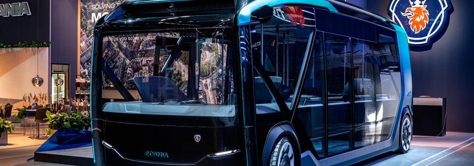 Veículo conceito da Scania é autônomo, elétrico e flexível
