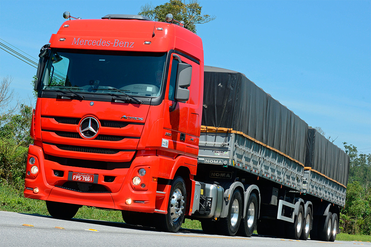 Actros é o caminhão mais vendido da Mercedes até agora