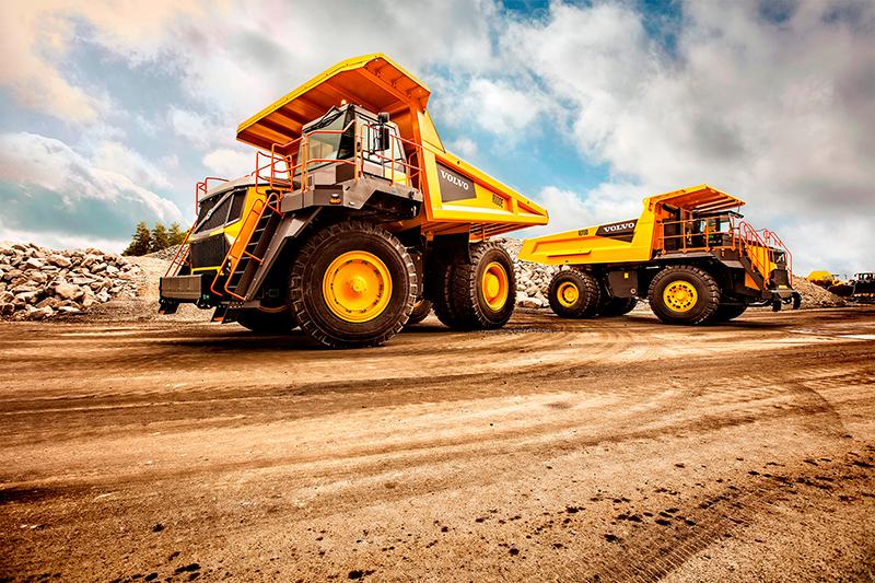 Novo caminhão gigante da Volvo CE chega à América Latina