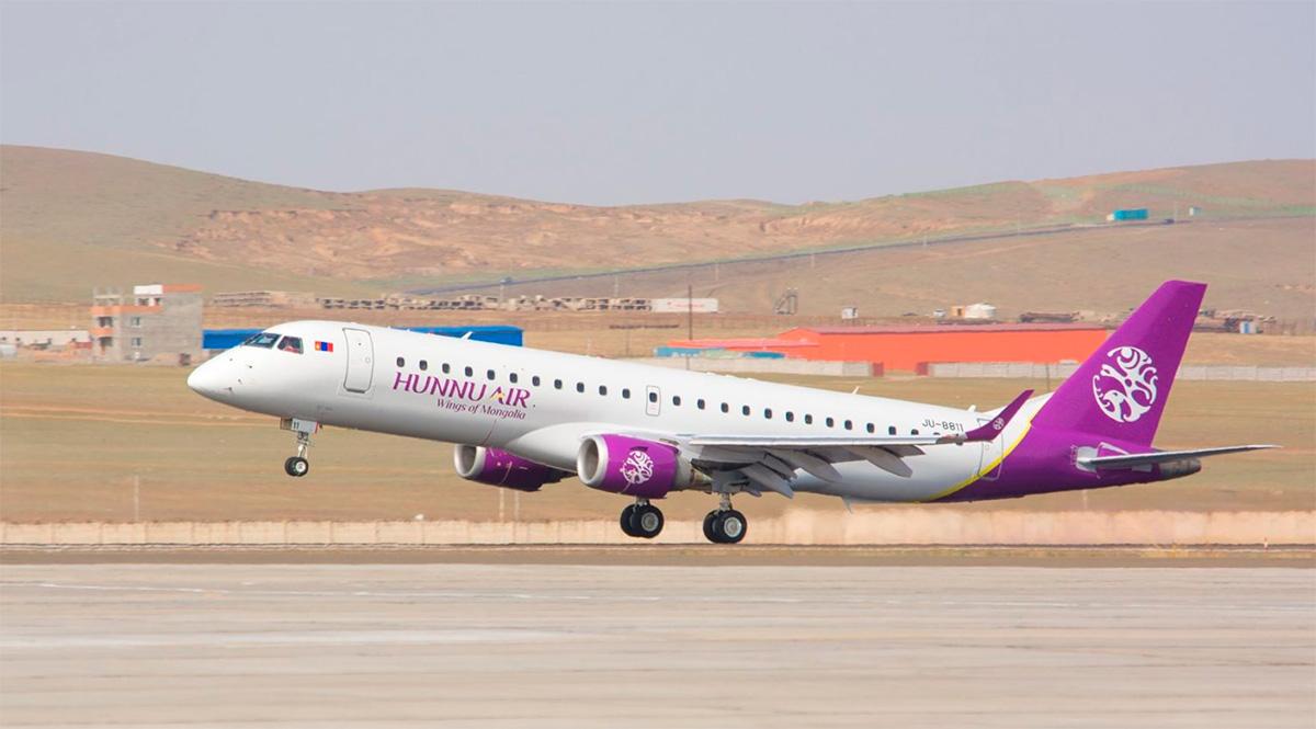 Embraer fecha contrato de manutenção de jatos E190 com empresa da Mongólia