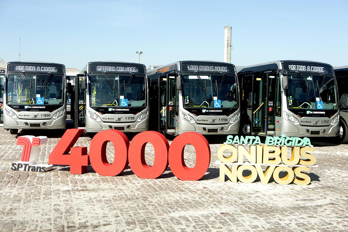 Volvo chega à marca de 4 mil ônibus na cidade de SP